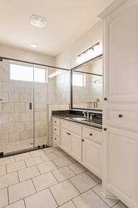 Walk In Shower Option - The Rio | Customer Home in Burnet County - May Contain Upgrades and Plan Changes Tilson Custom Home Photo