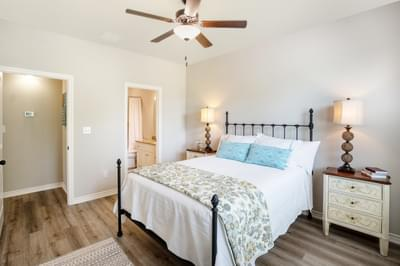Master Bedroom – The San Antonio | Customer Home in Llano County - May Contain Upgrades and Plan Changes Tilson Custom Home Photo