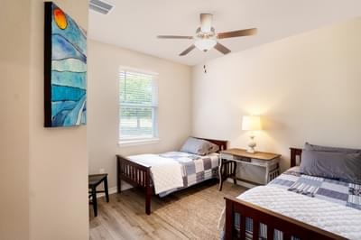 Bedroom 3 – The San Antonio | Customer Home in Llano County - May Contain Upgrades and Plan Changes Tilson Custom Home Photo