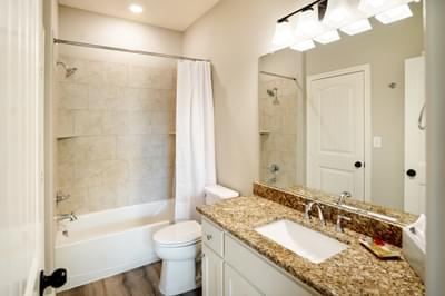 Master Bath – The San Antonio | Customer Home in Llano County - May Contain Upgrades and Plan Changes Tilson Custom Home Photo