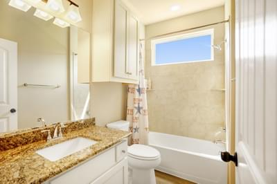 Bath 2 – The San Antonio | Customer Home in Llano County - May Contain Upgrades and Plan Changes Tilson Custom Home Photo