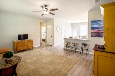 Living Room – The San Antonio | Customer Home in Llano County - May Contain Upgrades and Plan Changes Tilson Custom Home Photo