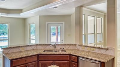 Kitchen Island - The Hidalgo | Customer Home in Wilson County - May Contain Upgrades and Plan Changes Tilson Custom Home Photo