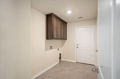 Utility Room – The La Porte   Customer Home in Williamson County - May Contain Upgrades and Plan Changes Tilson Custom Home Photo