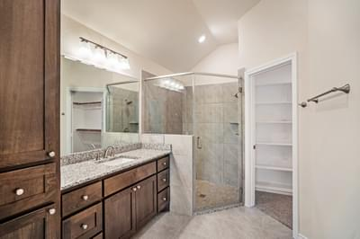 Master Bath – The La Porte | Customer Home in Williamson County - May Contain Upgrades and Plan Changes Tilson Custom Home Photo