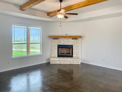 Family Room – The Harrisburg | Customer Home in Milam County - May Contain Upgrades and Plan Changes Tilson Custom Home Photo