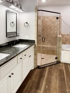 Alternate Master Bath – The La Porte   Customer Home in Grimes County - May Contain Upgrades and Plan Changes Tilson Custom Home Photo