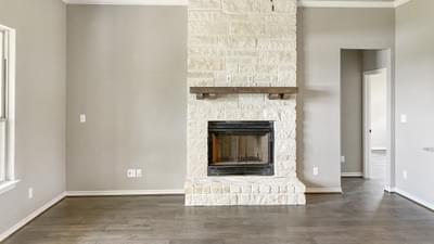 Fireplace – The Harrisburg | Customer Home in Leon County - May Contain Upgrades and Plan Changes Tilson Custom Home Photo