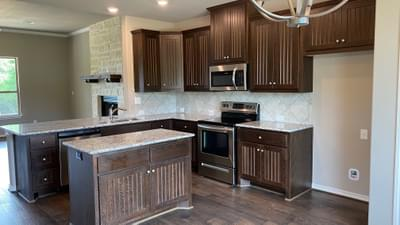 Kitchen – The Harrisburg | Customer Home in Leon County - May Contain Upgrades and Plan Changes Tilson Custom Home Photo