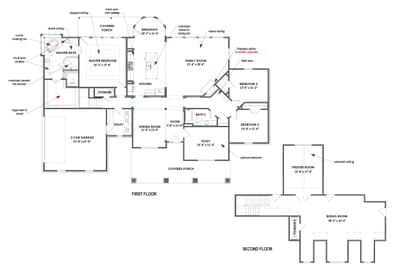 Optional Bonus Space Layout | The Fredericksburg Tilson Custom Home Photo