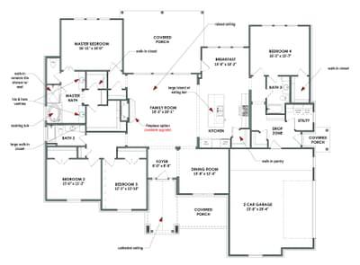 Floor Plan | The La Salle Tilson Custom Home Photo