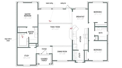 Floorplan - The Marian Tilson Custom Home Photo