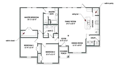 Floorplan - The Nacogdoches Tilson Custom Home Photo