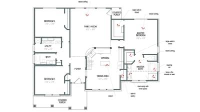 Floorplan - The Nueces Tilson Custom Home Photo