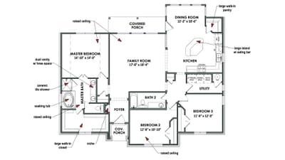 Floorplan - The Parker Tilson Custom Home Photo