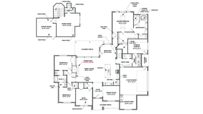 Two Story Floorplan - The Rockwall Tilson Custom Home Photo