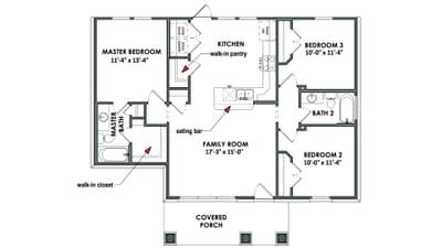 Floorplan - The San Antonio Tilson Custom Home Photo