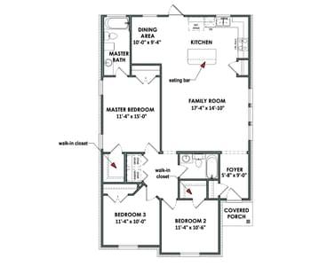 Floorplan - The San Felipe Tilson Custom Home Photo