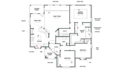 Floorplan - The San Gabriel Tilson Custom Home Photo