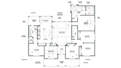 Floorplan - The San Jacinto Tilson Custom Home Photo