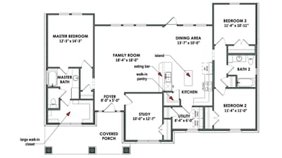 Floorplan - The Tampico Tilson Custom Home Photo