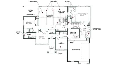 Floorplan - The Wimberley Tilson Custom Home Photo