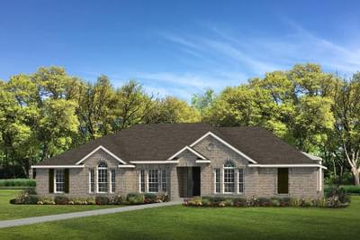 Elevation B - The Shiloh Tilson Custom Home Photo
