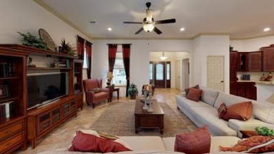 Living Room - Frio Model in Boerne Design Center Tilson Custom Home Photo
