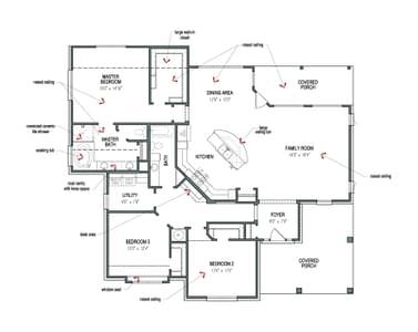 Floorplan - The Frio Tilson Custom Home Photo