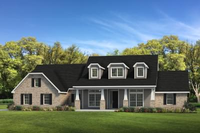 Elevation C - The Fredericksburg Tilson Custom Home Photo