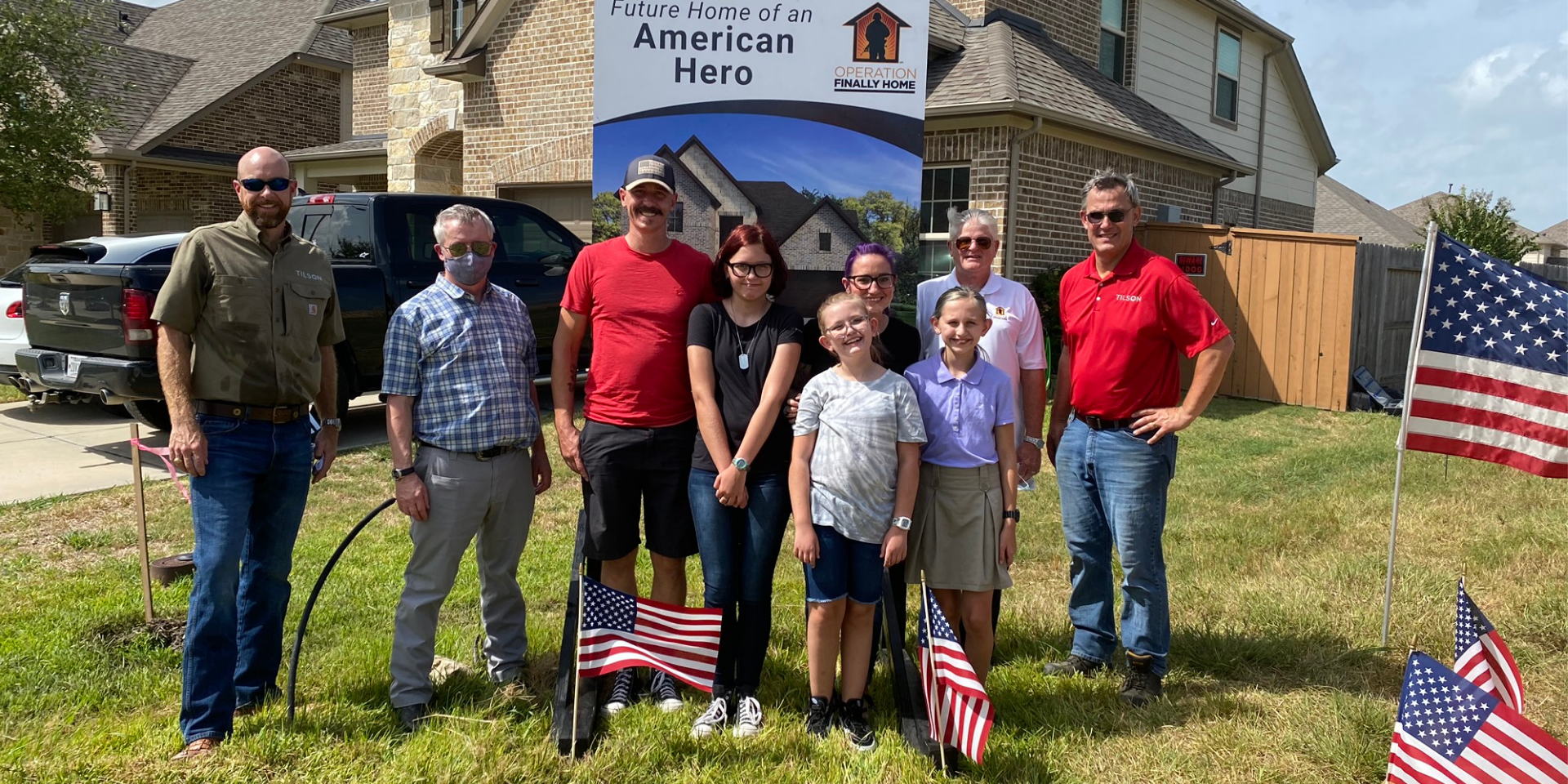 U.S. Marine Veteran and Family Celebrate New Mortgage-Free Home with Surprise and Special Groundbreaking Ceremony