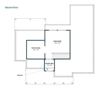 Optional Bonus Room Floorplan - The Fayetteville Tilson Custom Home Photo