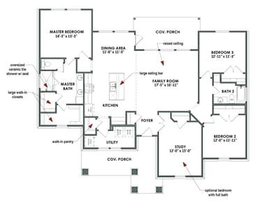 Floor Plan | Elevation B | The Angelina Tilson Custom Home Photo