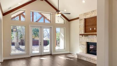 Living Room - The Cypress | Customer Home in Bexar County - May Contain Plan Changes and Upgrades Tilson Custom Home Photo