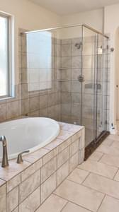 Master Bathroom - The Cypress | Customer Home in Bexar County - May Contain Plan Changes and Upgrades Tilson Custom Home Photo