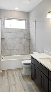 Bathroom 2 - The Goliad | Customer Home in Comal County - May Contain Updates and Plan Changes Tilson Custom Home Photo