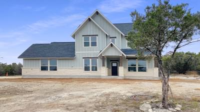 Elevation D - The Goliad | Customer Home in Comal County - May Contain Updates and Plan Changes Tilson Custom Home Photo