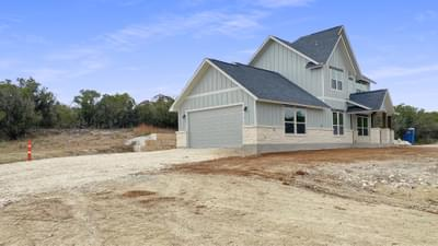 Attached 2-Car Garage - The Goliad | Customer Home in Comal County - May Contain Updates and Plan Changes Tilson Custom Home Photo