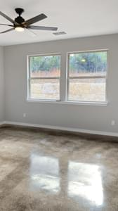 Master Bedroom - The Goliad | Customer Home in Comal County - May Contain Updates and Plan Changes Tilson Custom Home Photo