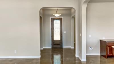 Foyer - The Cypress | Customer Home in Bandera County - May Contain Plan Changes and Upgrades Tilson Custom Home Photo