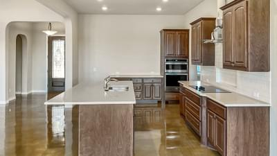 Kitchen - The Cypress | Customer Home in Bandera County - May Contain Plan Changes and Upgrades Tilson Custom Home Photo