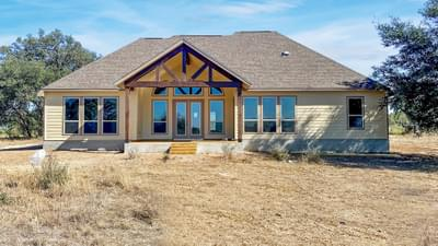 Elevation B - The Cypress | Customer Home in Bandera County - May Contain Plan Changes and Upgrades Tilson Custom Home Photo