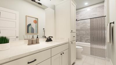 Bathroom 2 - The Live Oak | Rendered Home - May Contain Upgrades and Plan Changes Tilson Custom Home Photo