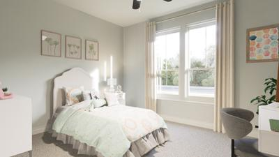 Bedroom 2 - The Live Oak | Rendered Home - May Contain Upgrades and Plan Changes Tilson Custom Home Photo