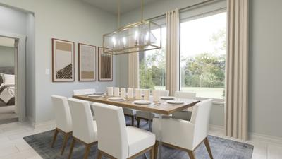 Dining Area - The Live Oak | Rendered Home - May Contain Upgrades and Plan Changes Tilson Custom Home Photo