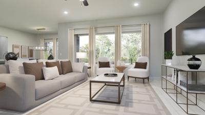 Family Room - The Live Oak | Rendered Home - May Contain Upgrades and Plan Changes Tilson Custom Home Photo