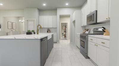 Kitchen - The Live Oak | Rendered Home - May Contain Upgrades and Plan Changes Tilson Custom Home Photo