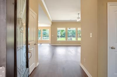Foyer – The Angelina | Customer Home in Brazoria County – May Contain Plan Changes and Upgrades Tilson Custom Home Photo