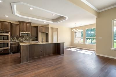 Kitchen – The Angelina | Customer Home in Brazoria County – May Contain Plan Changes and Upgrades Tilson Custom Home Photo