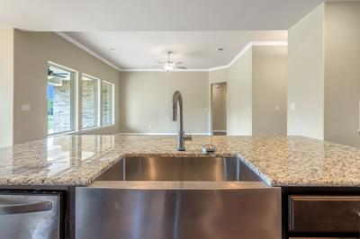 Farmhouse Sink – The Angelina | Customer Home in Brazoria County – May Contain Plan Changes and Upgrades Tilson Custom Home Photo
